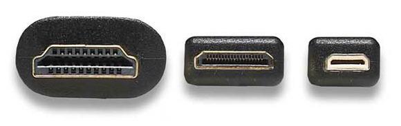 Типы HDMI разъемов