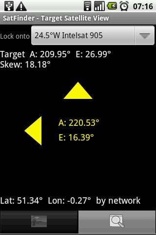 Настройка антенны с Android-приложением SatFinder